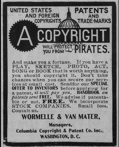 old copyright informational flier