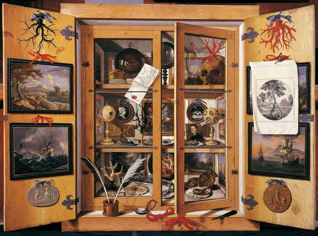 Full image of Domenico Remps's cabinet of curiosities