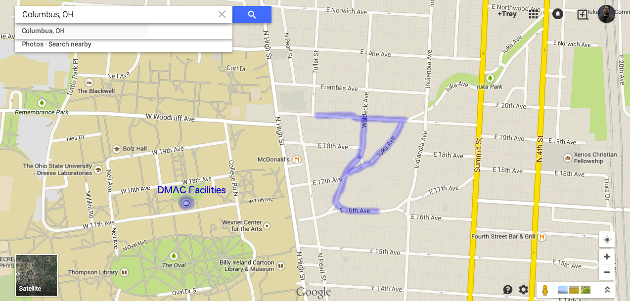 Ohio State Map Campus.Accommodations Dmac Institute Ohio State
